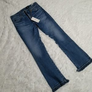 NWT AG Adriano Goldschmied High Rise Jodi Crop.